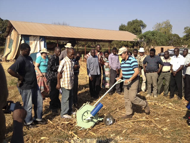 Field Testing Haraka Planter